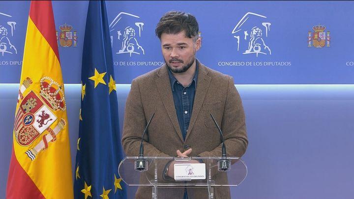 ERC amenaza al Gobierno con retirarle el apoyo tras la retirada del suplicatorio de Puigdemont
