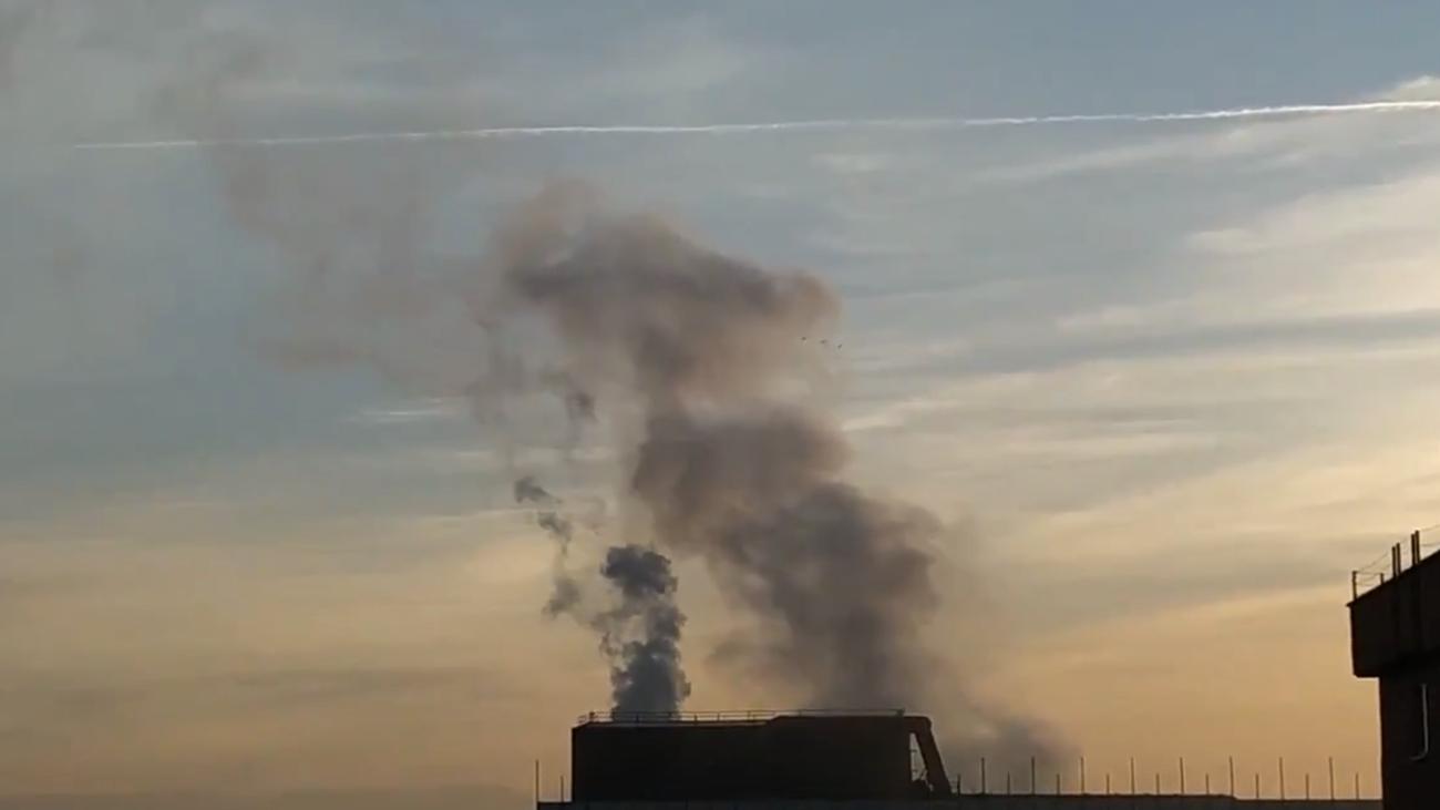 Emisiones de humos procedentes de la planta de Corrugados Getafe
