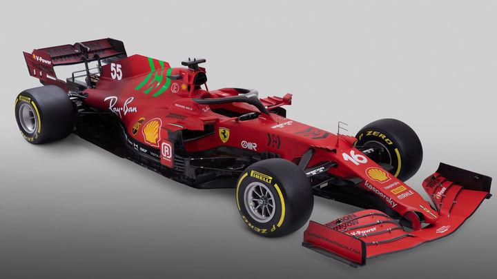 Puesta de largo del SF21, el Ferrari de Carlos Sainz y Leclerc en el Mundial 2021
