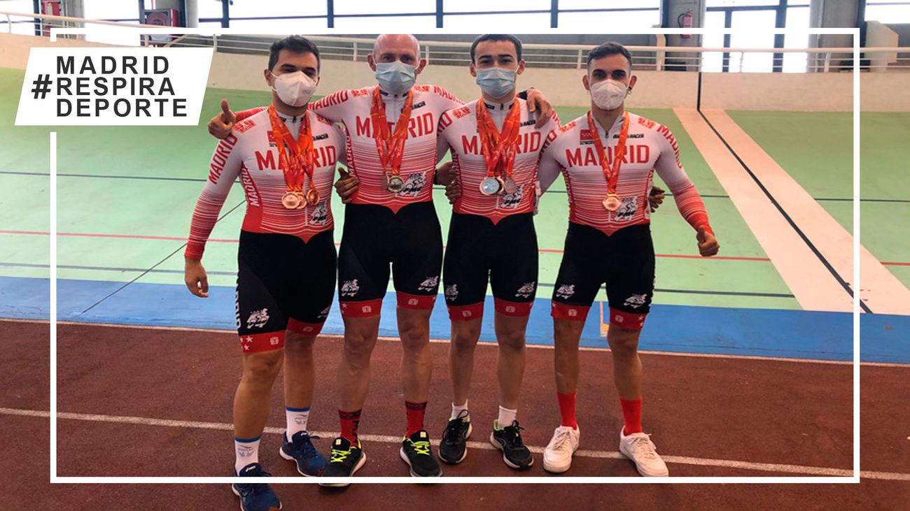 La Selección madrileña de ciclismo adaptado arrasa en el Campeonato de España de pista