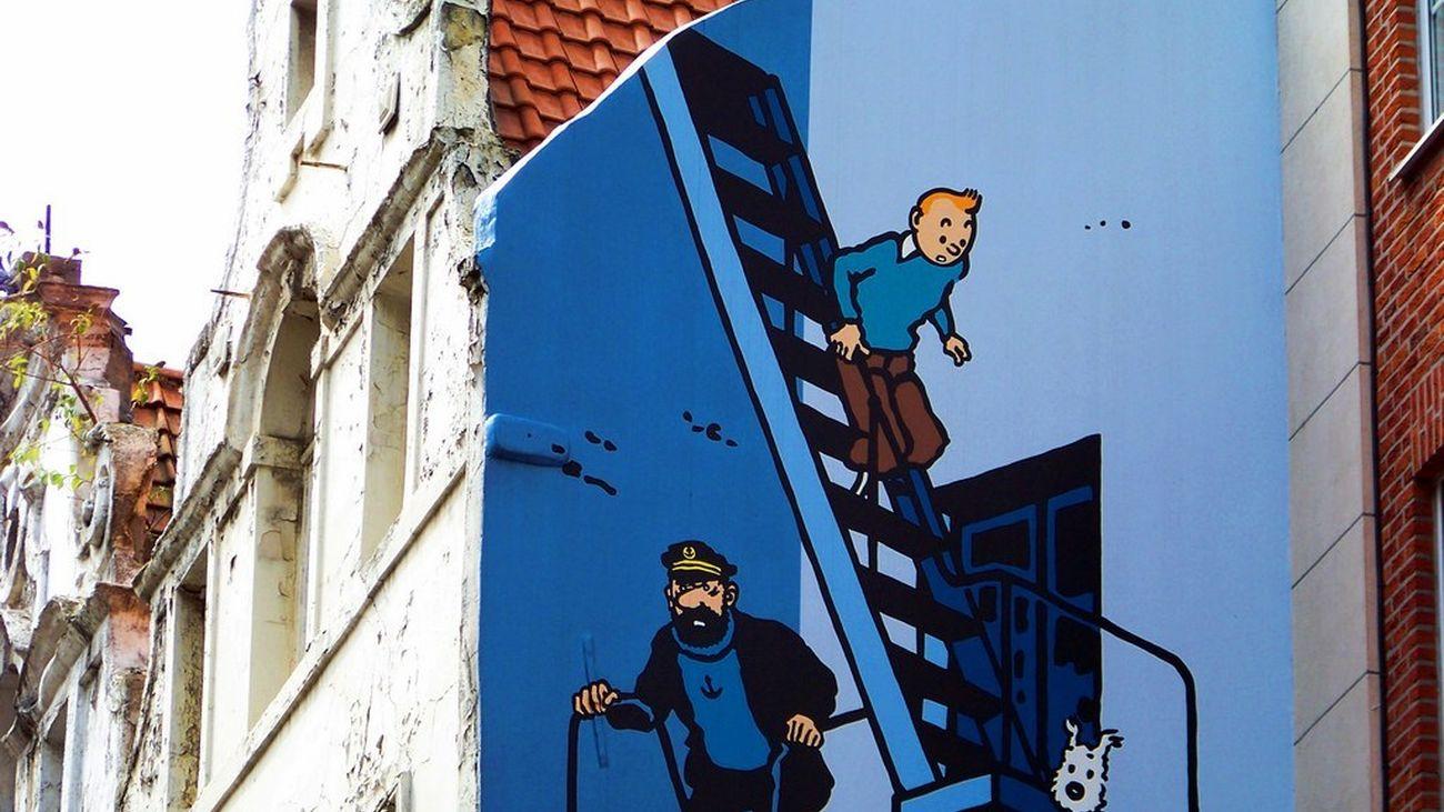 Las calles de Bruselas, un auténtico museo de las aventuras de Tintín