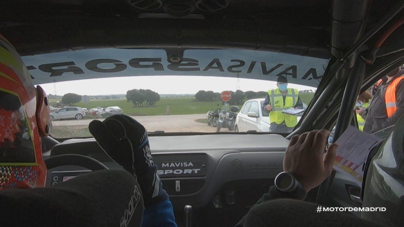 El debut de Sergio López con su Peugeot 208 R2 desde el interior de su coche