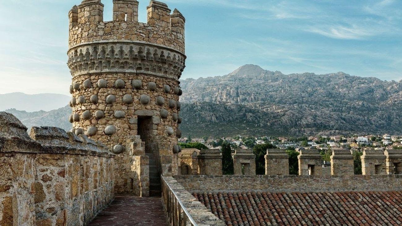 Detalle del castillo de Manzanares El Real