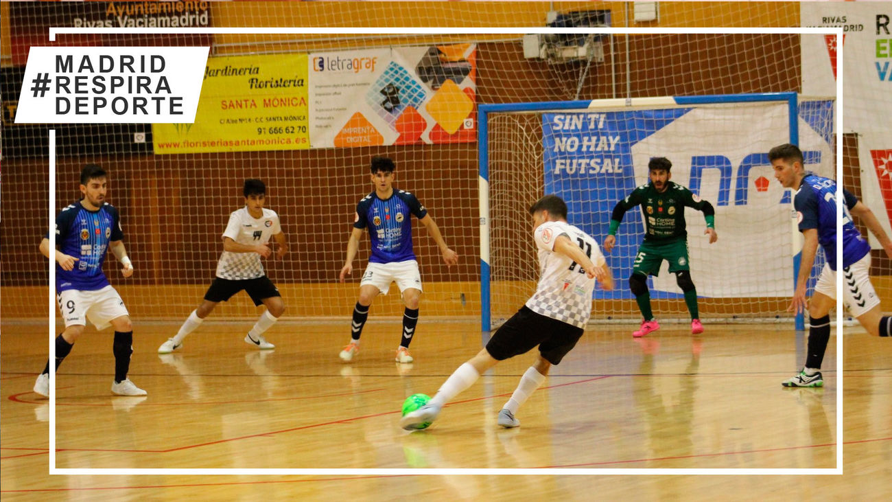 Rivas Futsal busca este domingo en Telemadrid.es su primera victoria ante el Zaragoza