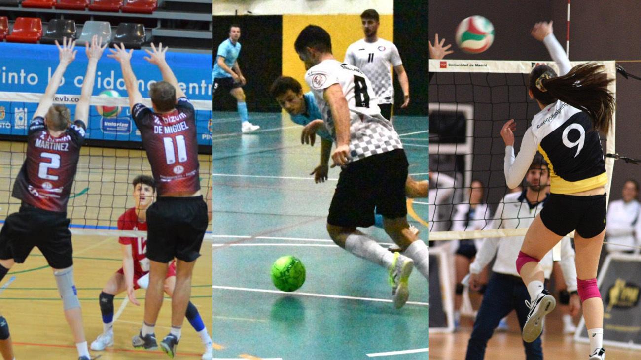 Voleibol y fútbol sala, deporte en directo en Telemadrid.es