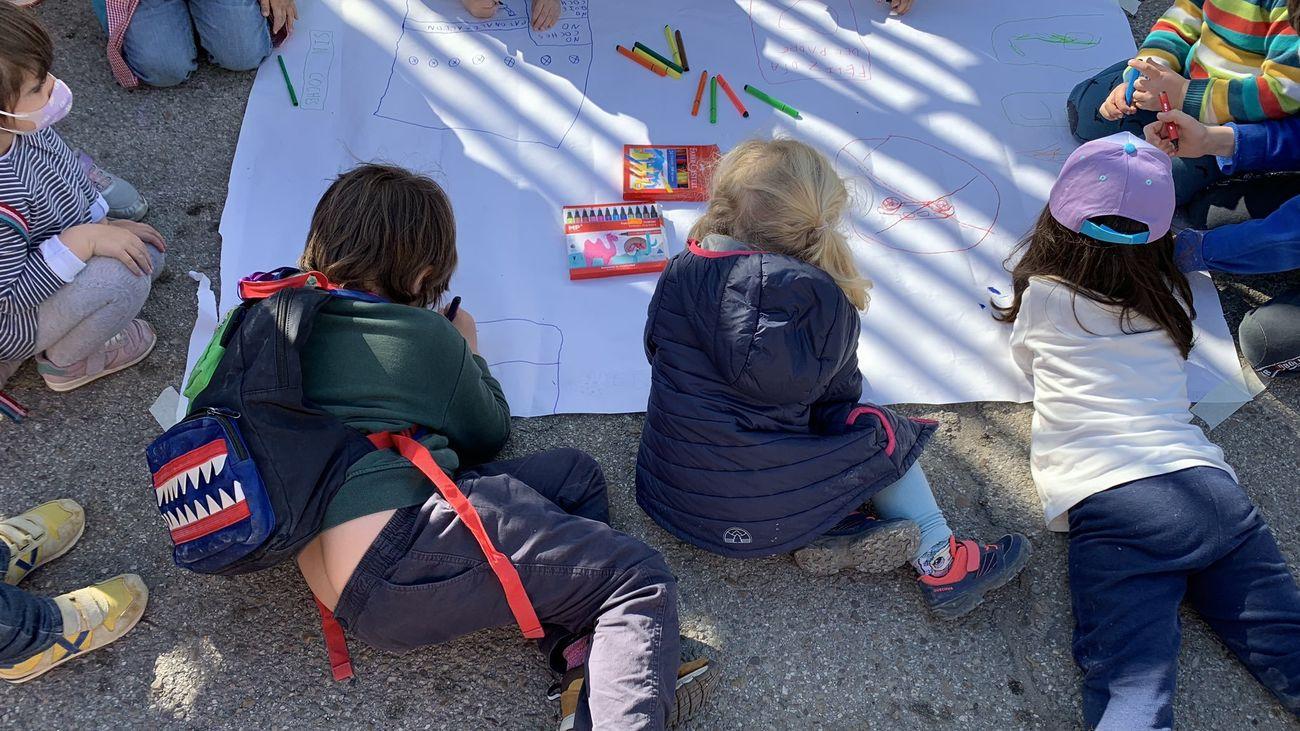 Escolares del colegio público Lope de Vega participan en la movilización