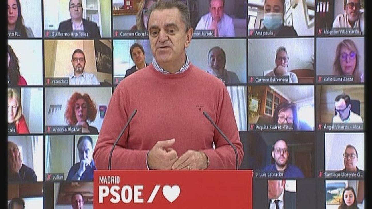 """El PSOE apela a una """"gran movilización"""" para los que """"quieren algo diferente"""" en la Comunidad de Madrid"""