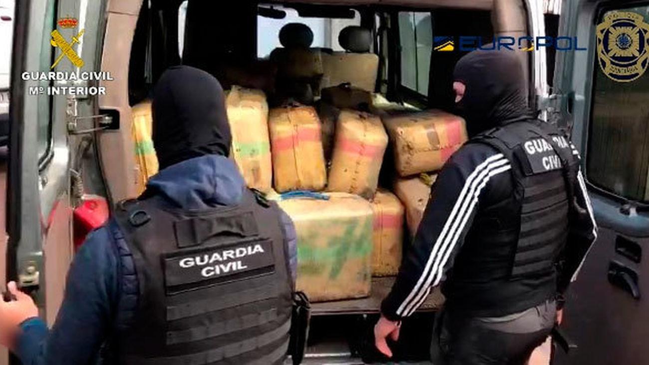 Golpe al narcotráfico de hachís en Huelva, con 60 detenidos