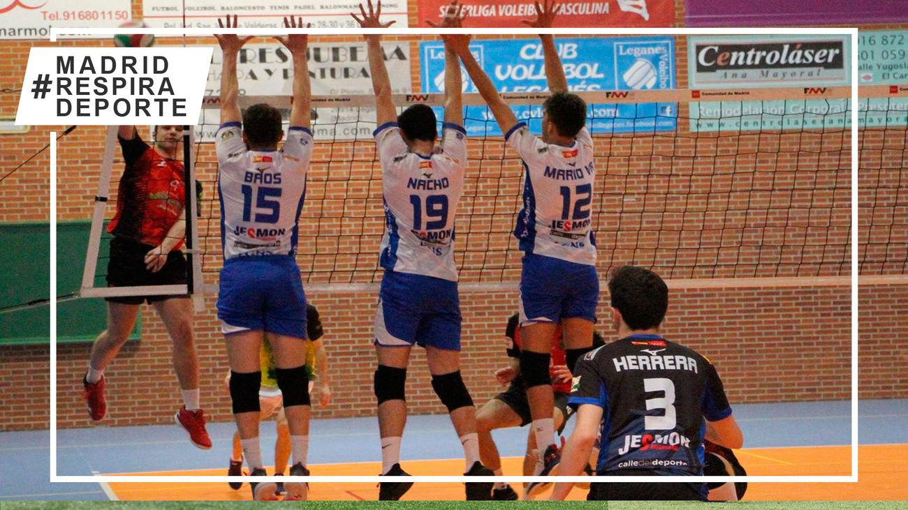Doble victoria que acerca al Voleibol Leganés al segundo puesto de la Superliga 2