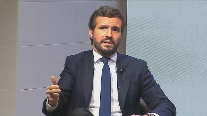 """Casado, sobre Pablo Iglesias: """"La onda expansiva ha hecho que sea el Gobierno de Sánchez el que se tambalee"""""""