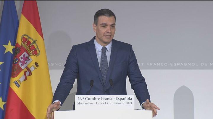Pedro Sánchez dice que habló con Iglesias esta mañana y le ha deseado suerte