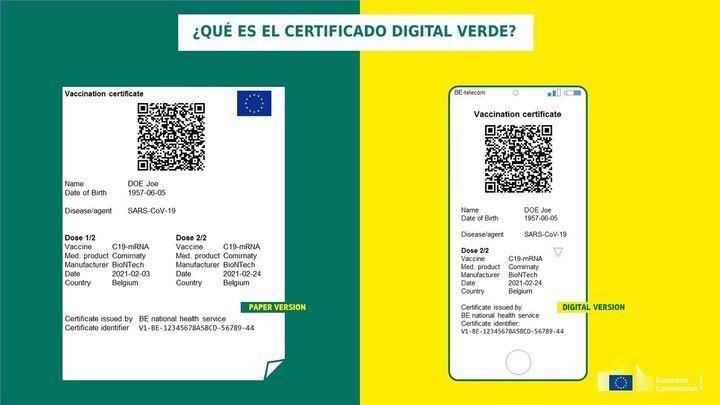 El pasaporte Covid, a prueba ya en España desde el 7 de junio