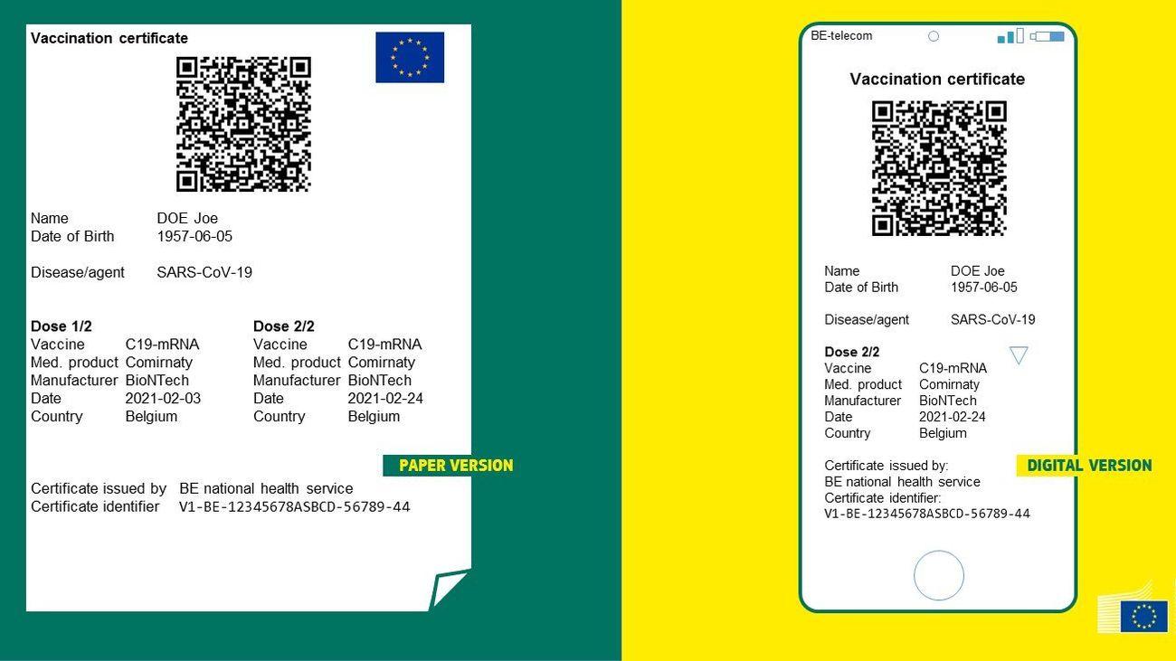 Así es el 'pasaporte Covid' para poder viajar en Europa