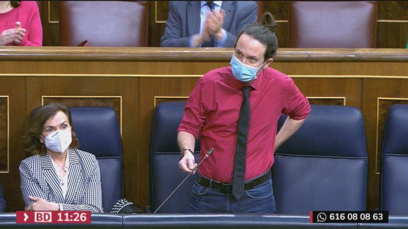 """Iglesias acusa al PP de comprar diputados de Cs  y Egea rechaza lecciones y le vaticina que sólo le quedará """"rodear la Asamblea"""" en Madrid"""