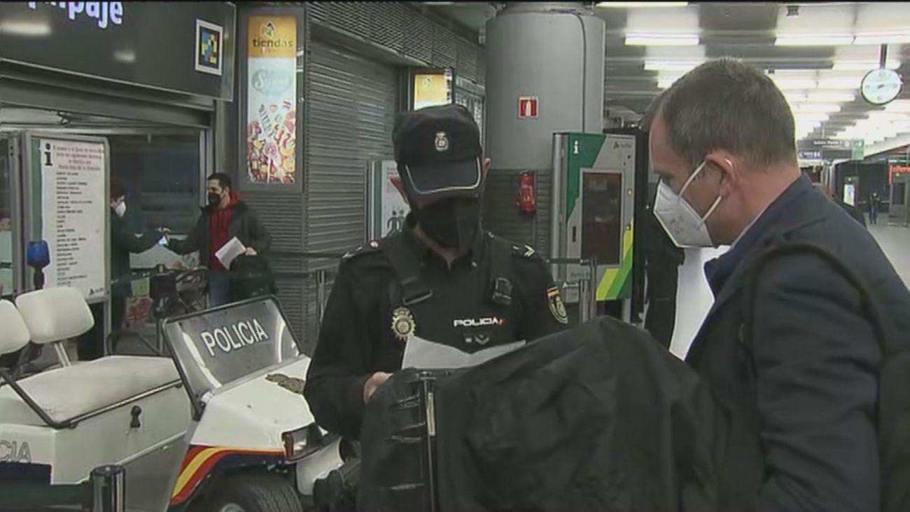 Vuelven los controles a la estación de Atocha para evitar desplazamientos innecesarios
