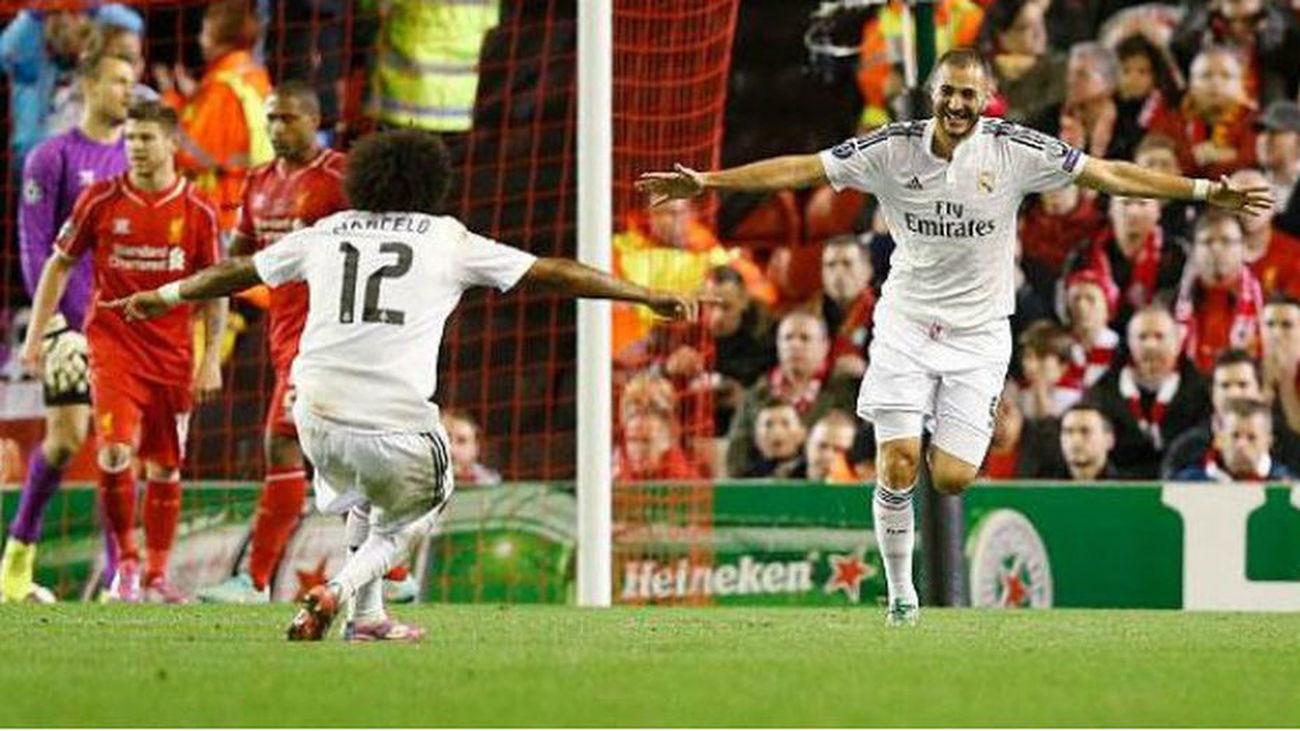 Al Real Madrid le cae en Liverpool en cuartos de la Champions