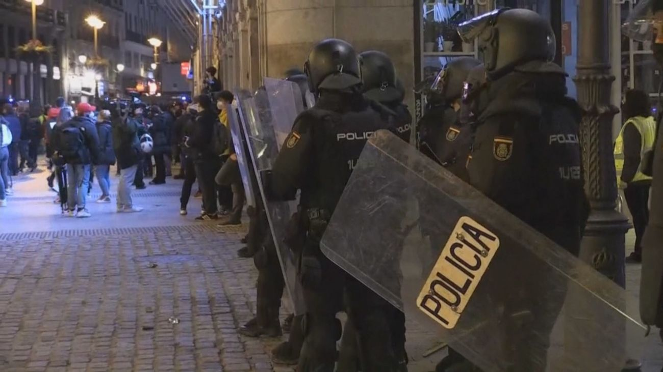 Madrid, de nuevo en alerta policial por una manifestación no autorizada pro Hasel