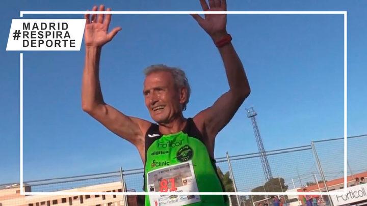 Manuel Alonso, de 85 años, busca batir el récord del mundo de 800 metros de +80