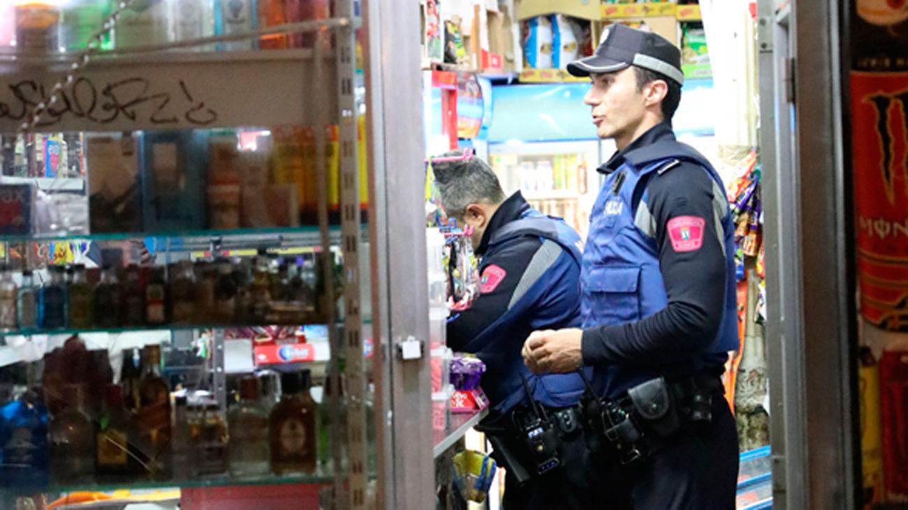 Agentes de la Policía Municipal de Madrid duranrte una intervención