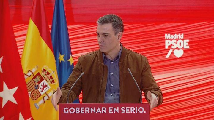 Sánchez acusa a Ayuso de bloquear con el 4M las ayudas a pymes y autónomos