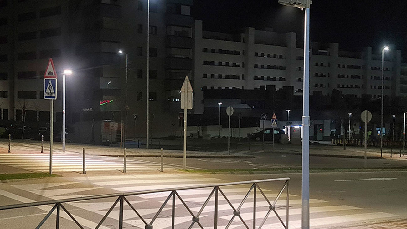 Iluminación led en paso de peatones