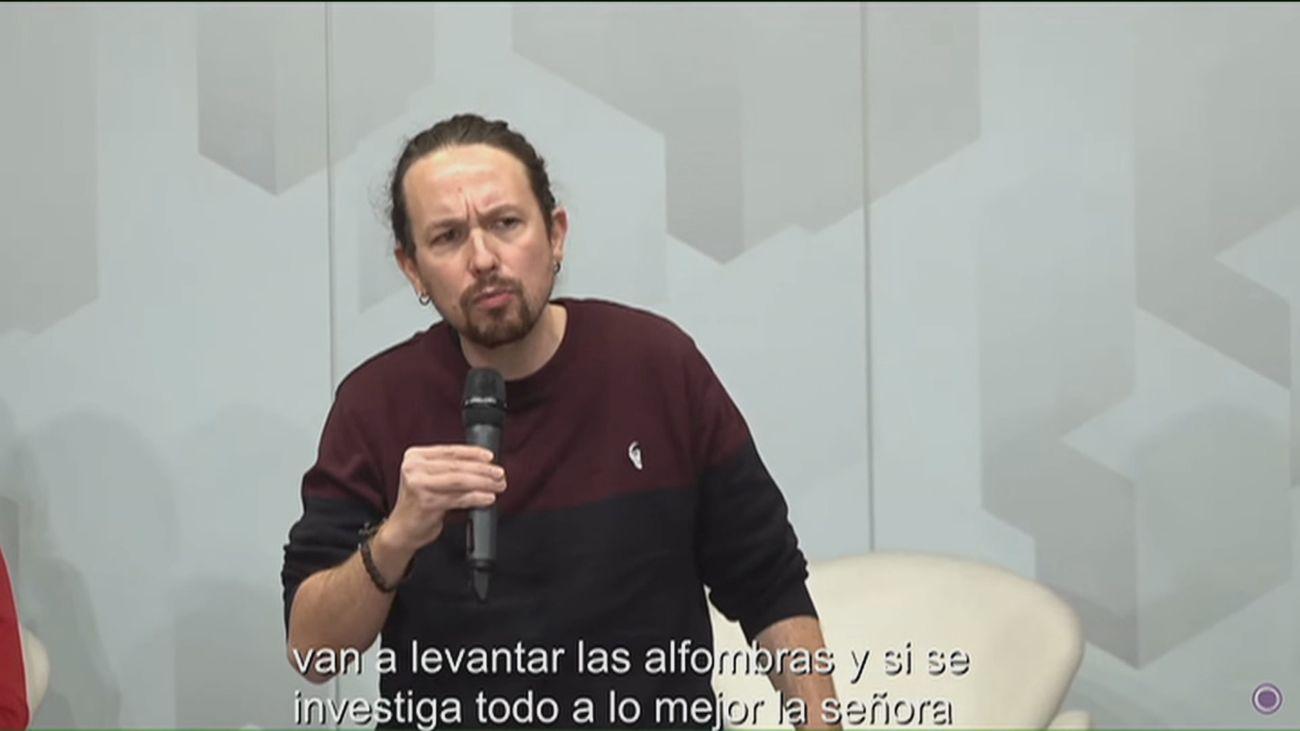 """Iglesias dice  que Ayuso y otros dirigentes del PP podrían """"terminar en la cárcel"""""""