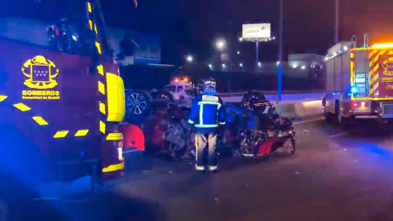Dos muertos en la colisión de un coche que circulaba  en sentido contrario en la A-2