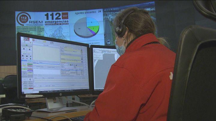 Así evalúan los riesgos de las asistencias los operarios del 112