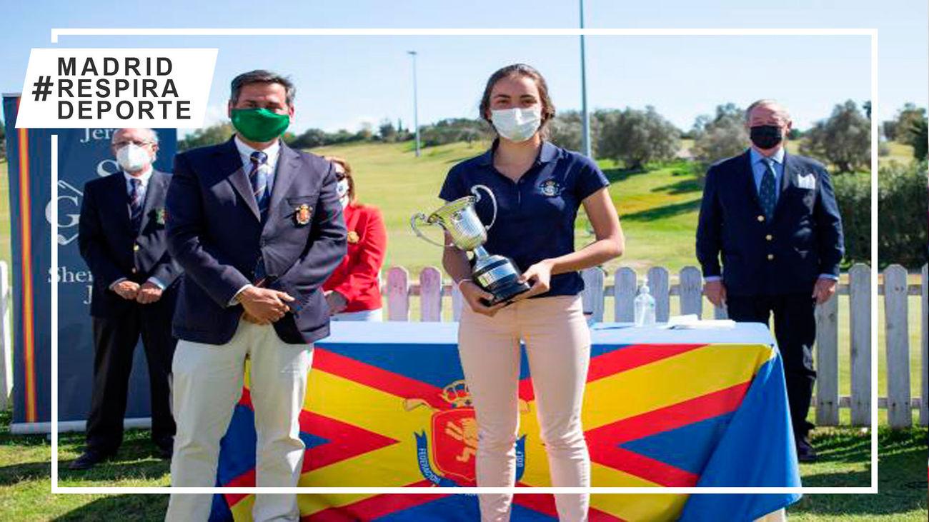 Brillante victoria de la madrileña Andrea Revuelta en el Campeonato de España Sub'18 de golf