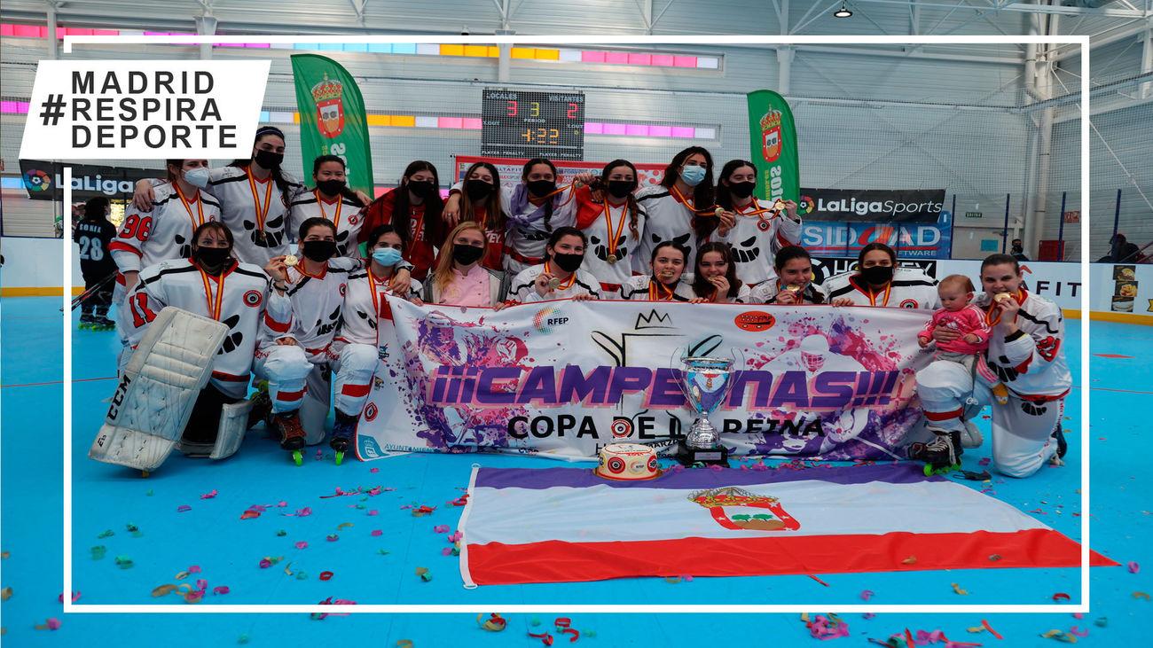 Tres Cantos, campeón de la Copa de la Reina de hockey línea por tercer año consecutivo