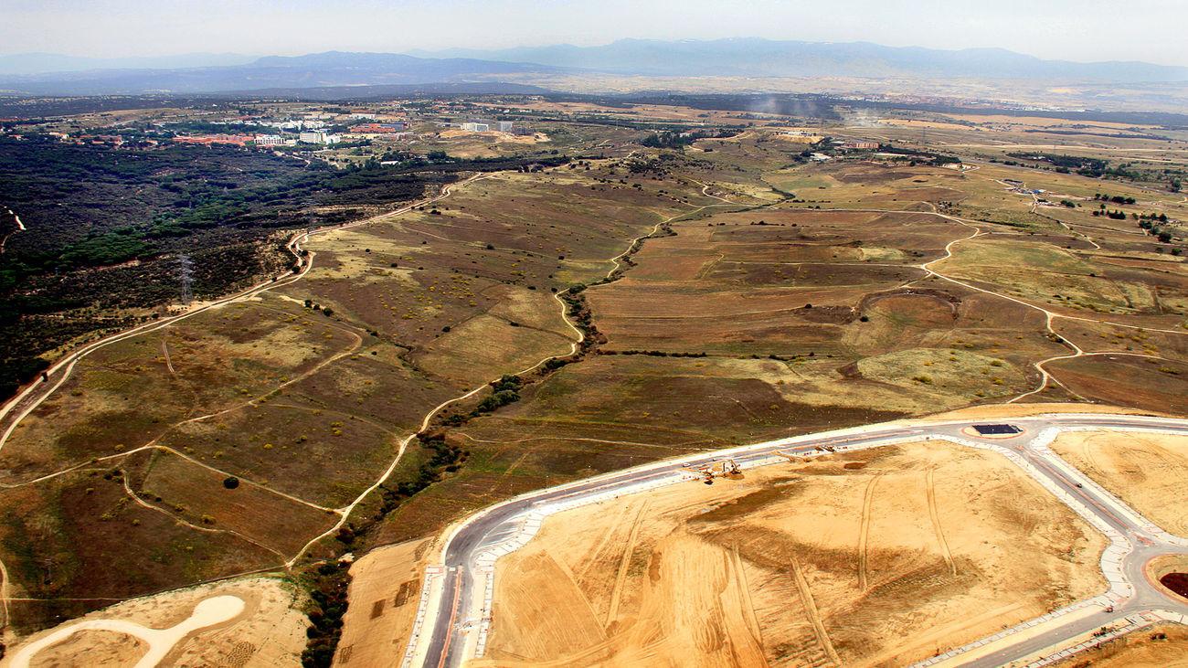 Terrenos del desarrollo urbanístico Los Carriles de Alcobendas