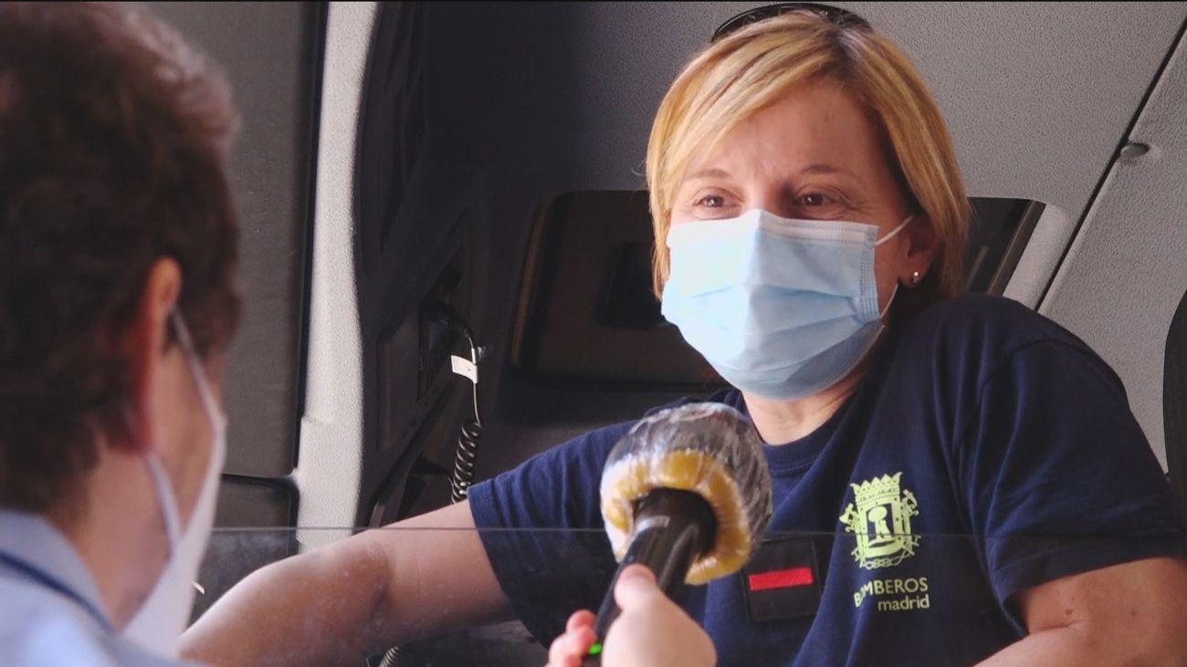 Mujer y bombera, la historia de Carolina Espadas