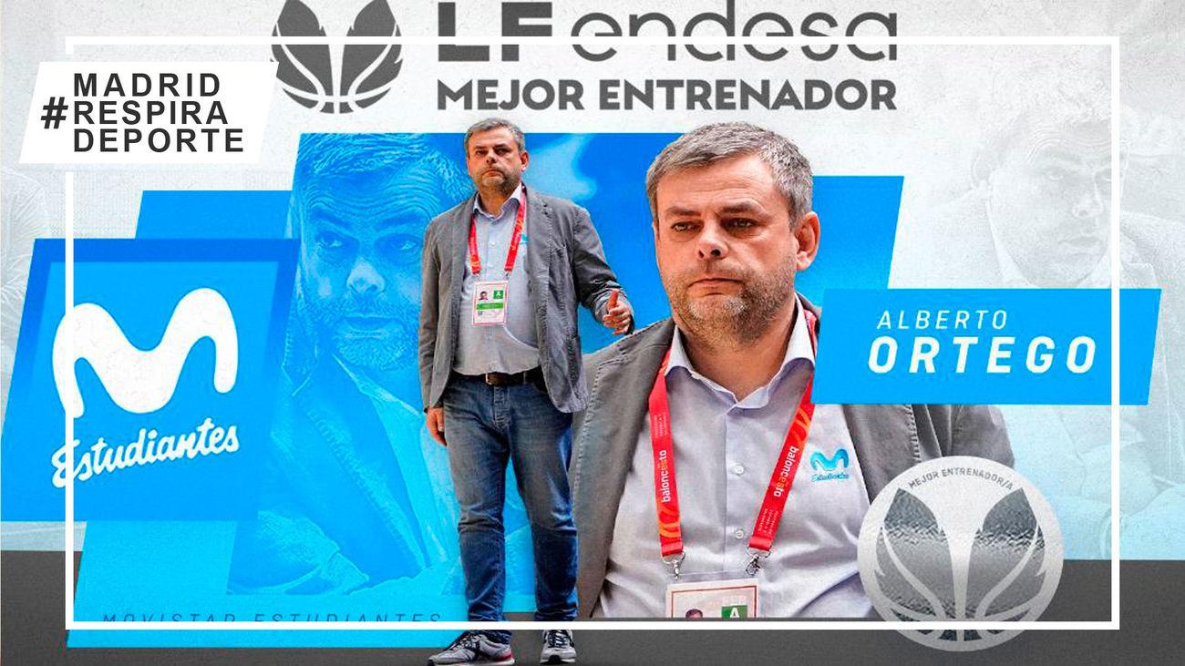 Alberto Ortego,  del Estudiantes femenino, elegido mejor entrenador del año