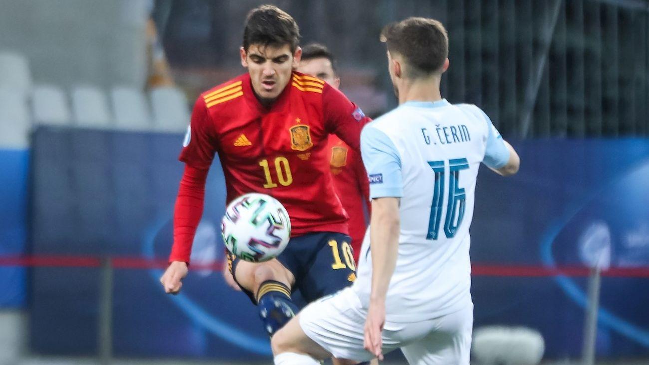 0-3. España brilla ante Eslovenia en su debut en la Eurocopa Sub'21