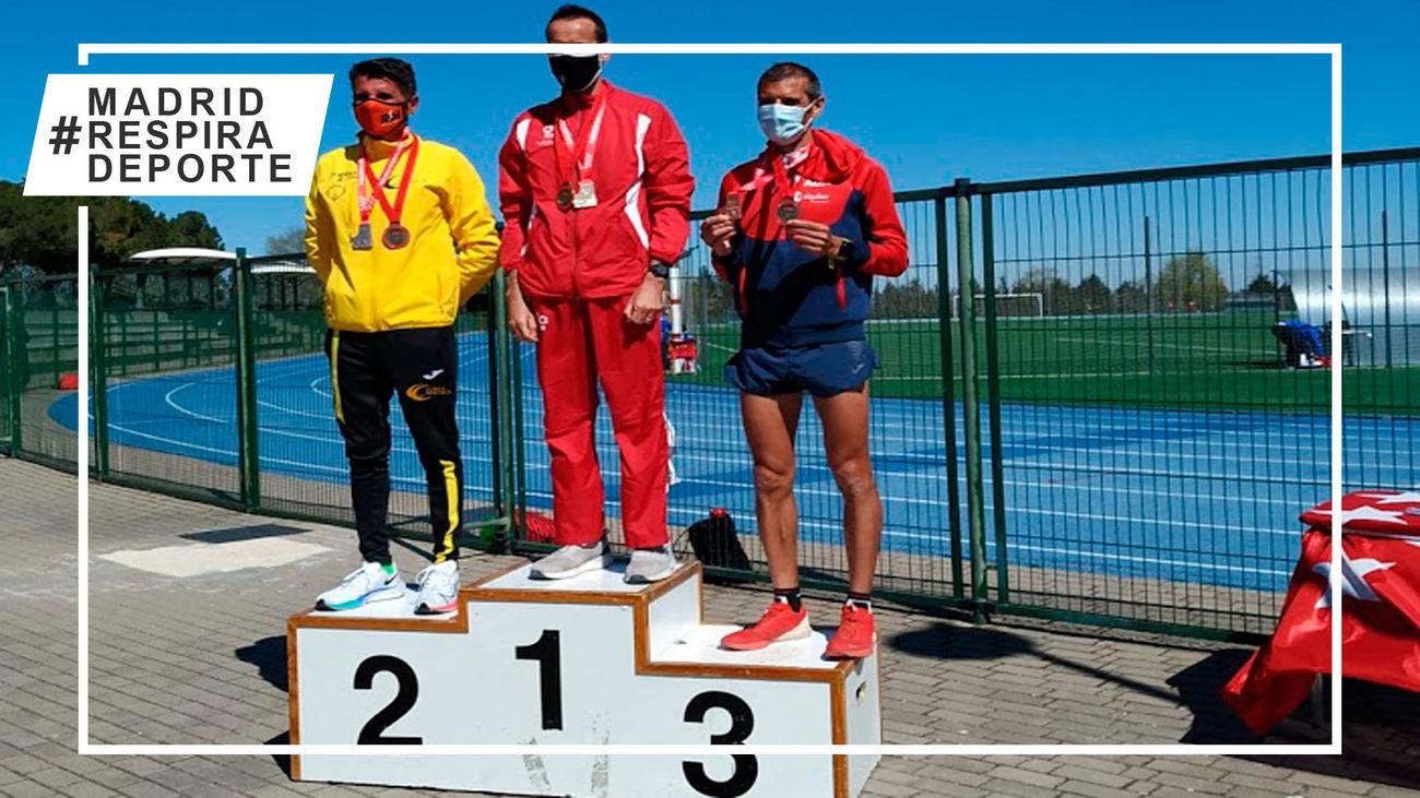 José España y Tamara Sanfabio, campeones de Madrid de 10.000 metros