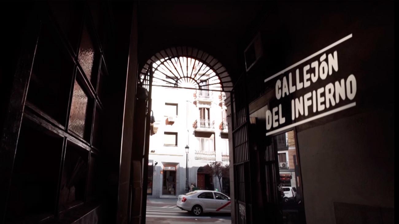 Callejón del Infierno de la Plaza Mayor de Madrid