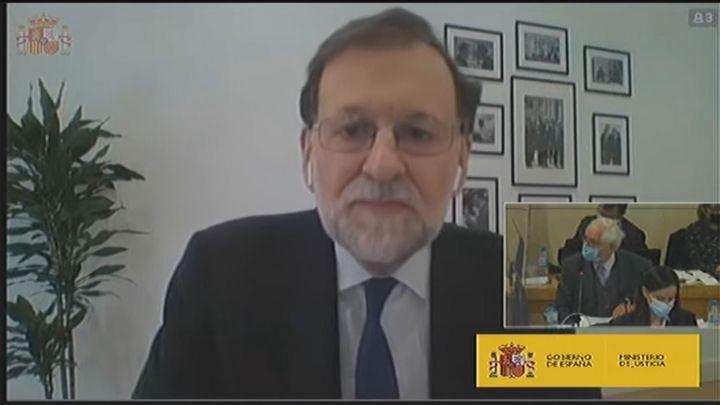 """Rajoy asegura ante el tribunal que """"no ha habido  'caja b' del PP"""""""