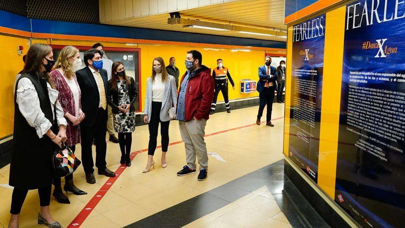La estación de Metro de Canal acoge la muestra fotográfica #DanzaXAgua