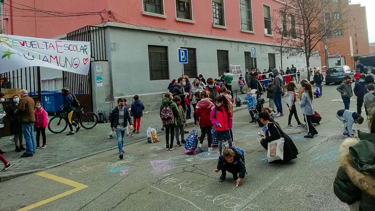 La anterior  'Revuelta Escolar' en el colegio público Unamuno, en el barrio de Delicias