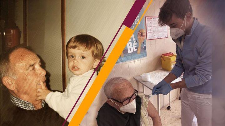 Julián es estudiante de enfermería y ha vacunado a su abuelo contra la Covid