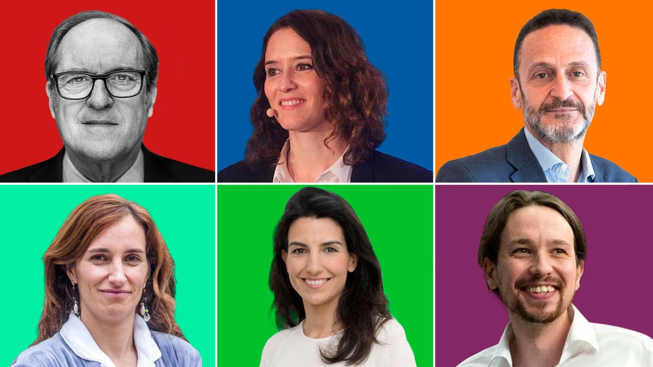 Candidatos elecciones a la Asamblea de Madrid 2021