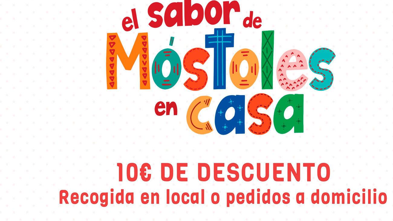 Cartel de la campaña de bonos descuentos en Móstoles