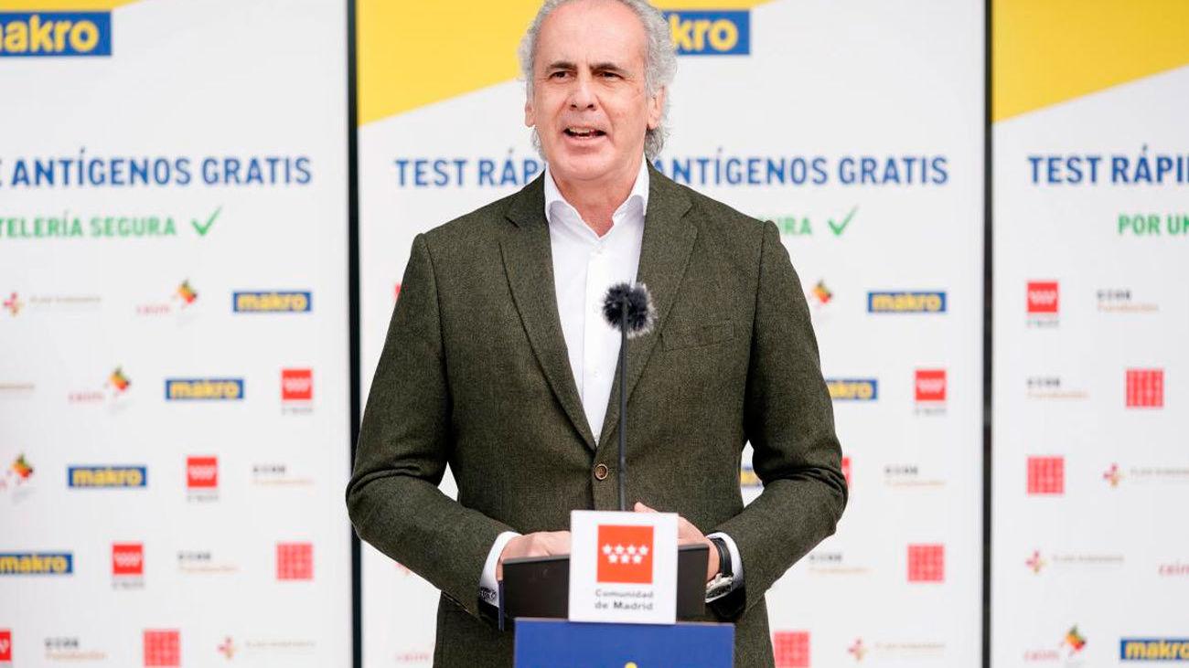 El consejero de Sanidad madrileño, Enrique Ruiz Escudero
