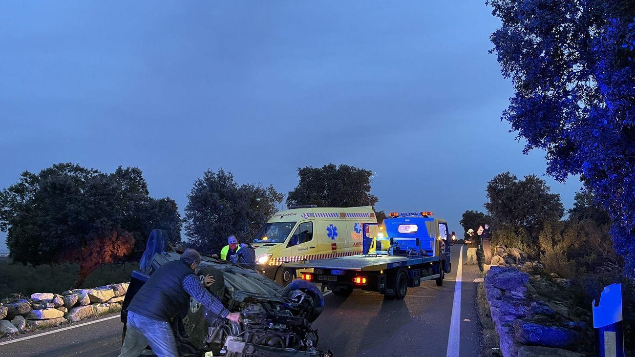 Cuatro heridos leves en un accidente en la M-600 en El Escorial