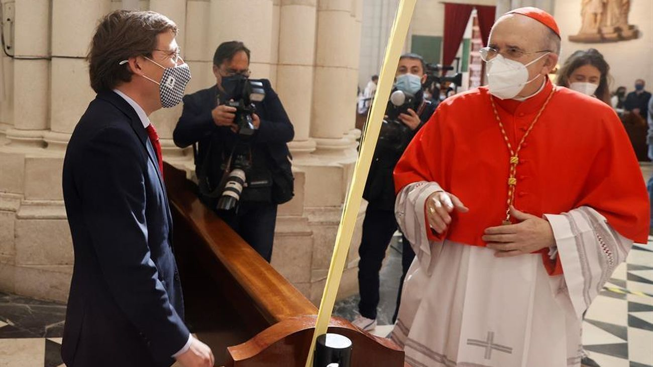 Los madrileños celebran un Domingo de Ramos atípico