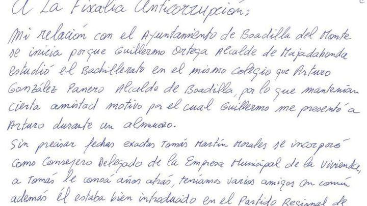 """Francisco Correa tacha de """"amoral"""" al exalcalde de Boadilla en una carta a la Fiscalía Anticorrupción"""