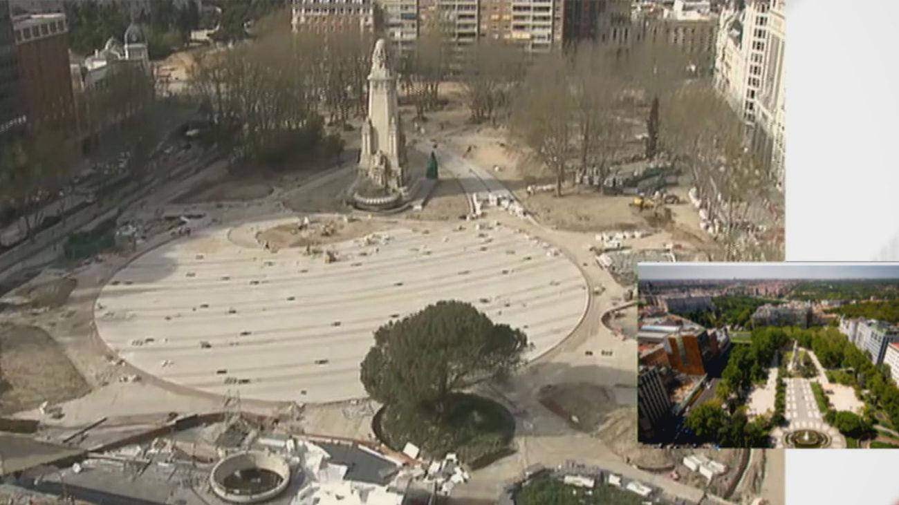 Las obras de la Plaza de España estarán terminadas antes de que acabe 2021