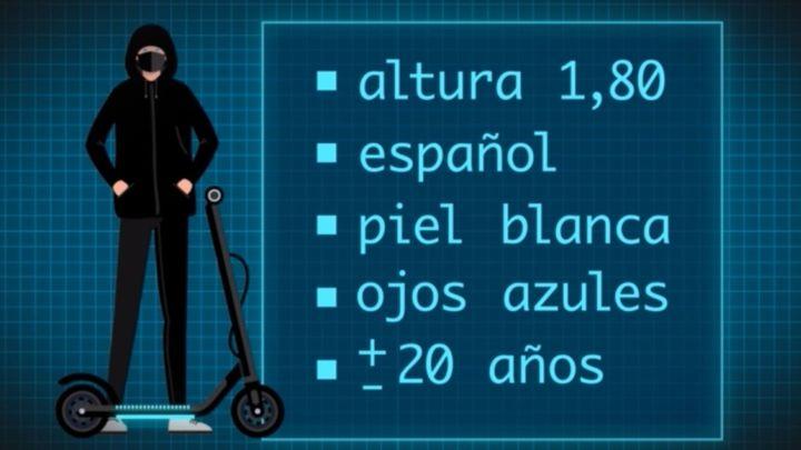 Así es el retrato robot del patinador que atropelló a una mujer en Latina