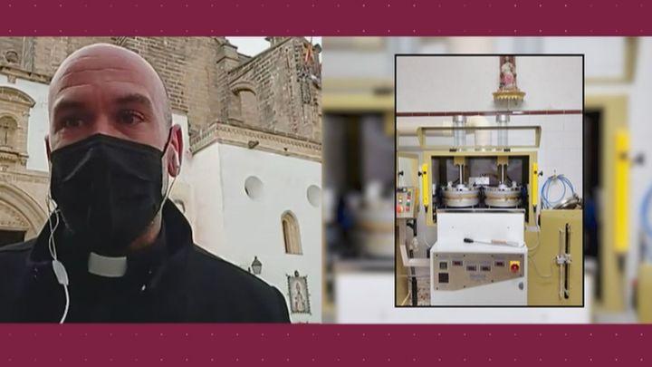 Un convento pide ayuda para arreglar la máquina que fabrica obleas