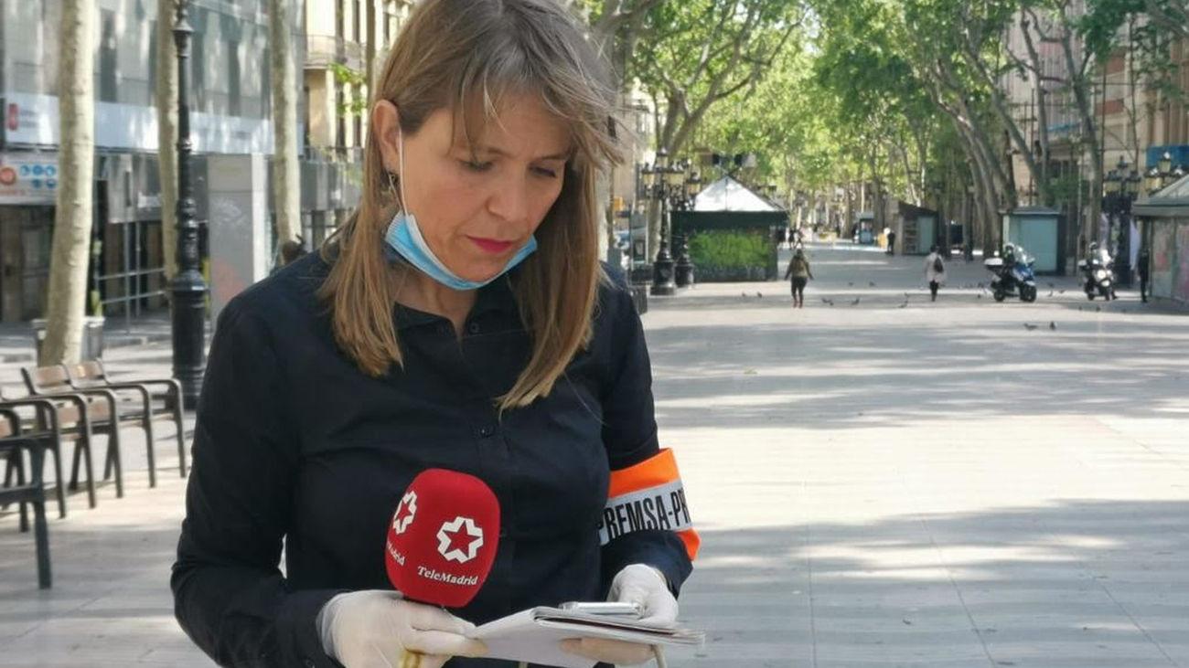 La Comunidad de Madrid reconoce el trabajo de la periodista de Telemadrid Berta Queralt con una Medalla de Plata